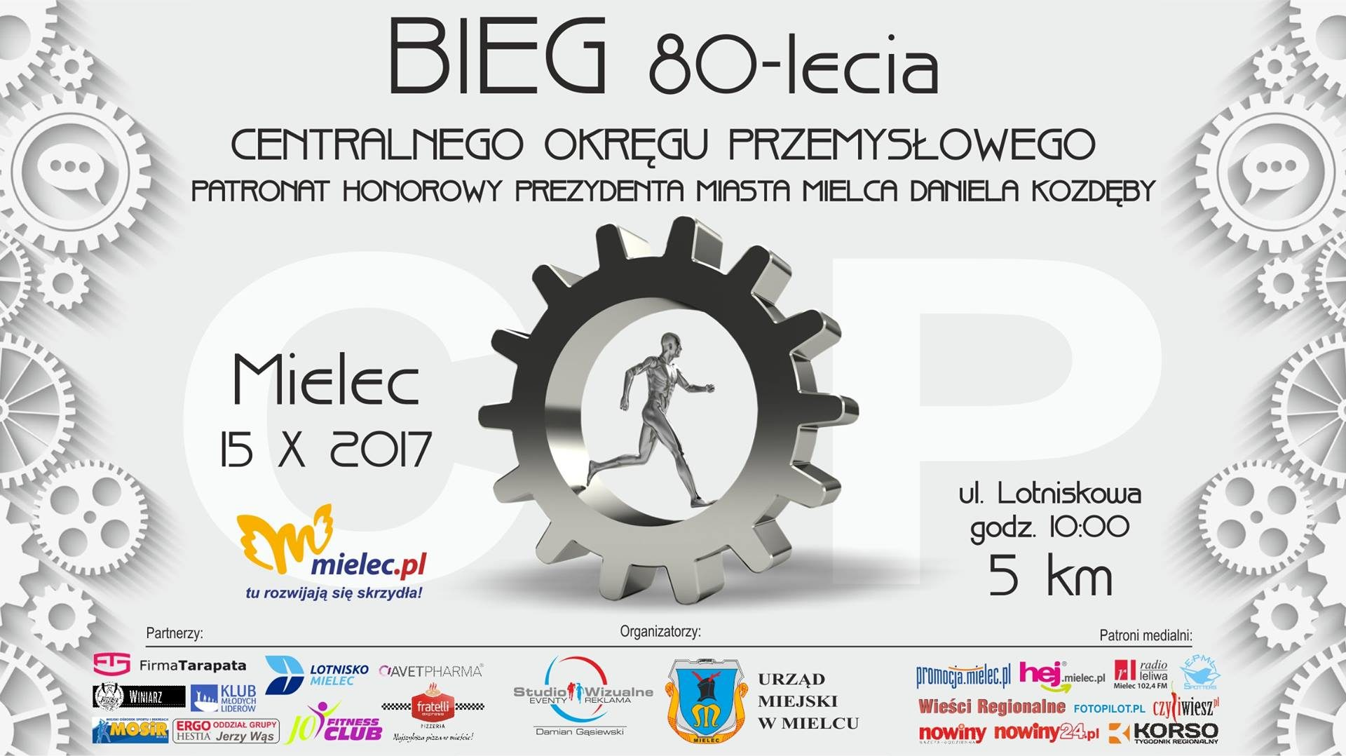 Bieg 80-Lecia COP w Mielcu (okolice lotniska) 15.10.2017