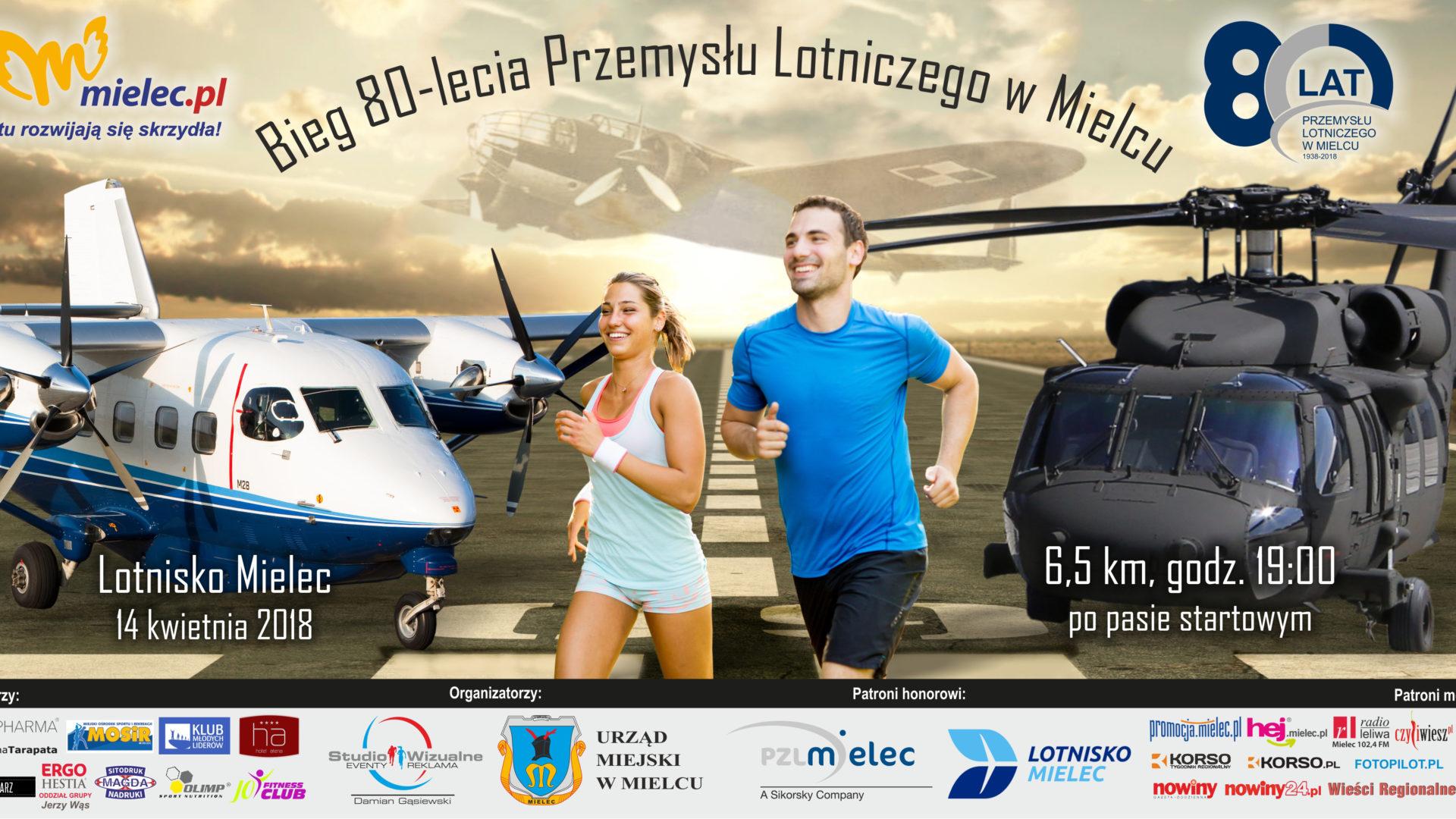 Bieg 80-lecia Przemysłu Lotniczego w Mielcu - 14.04.2018