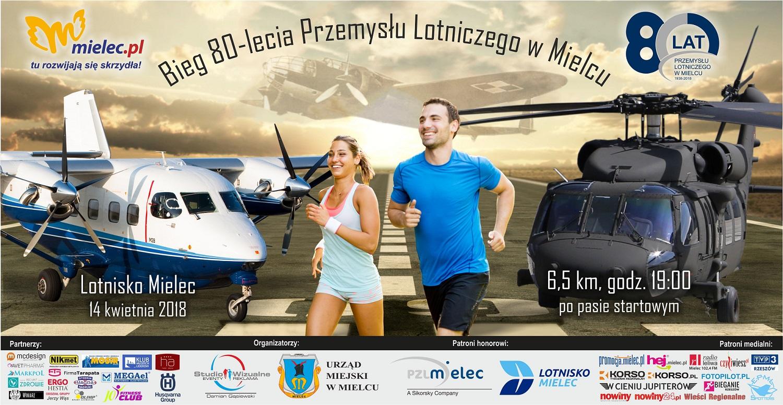 Bieg po Pasie Lotniska z Okazji 80-lecia Przemysłu Lotniczego - Mielec, 14.04.2018