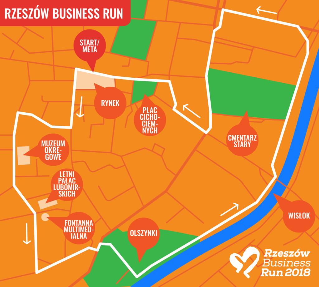 start charytatywnej sztafety Rzeszów Business Run 2018